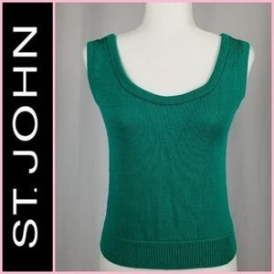 St. John Sportswear Sleeveless Knit Top